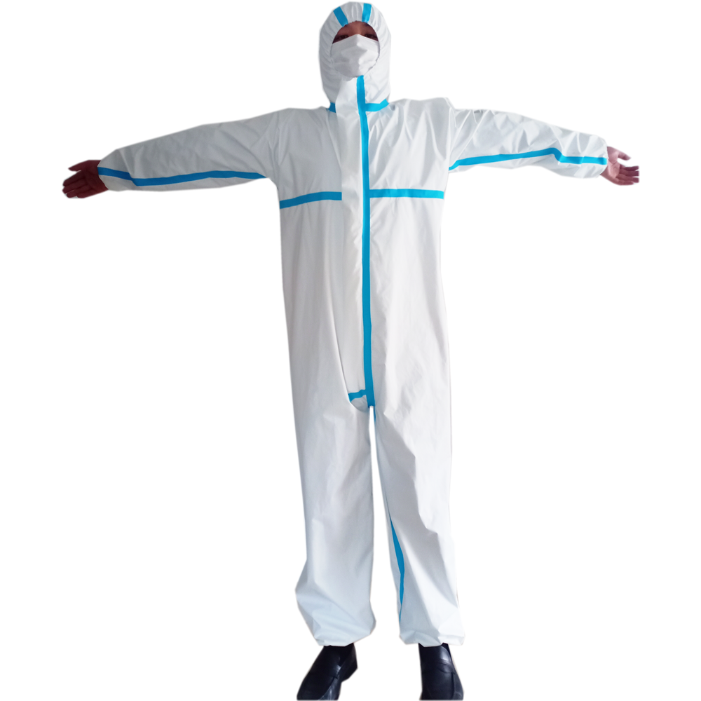 Coverall Disposable Anti Epidemic and Antibacterial Isolation Suit for Prevention from Viruses and Bacteria 4