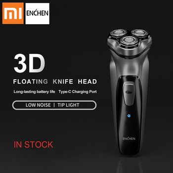 Xiaomi Enchen Electric Shaver BlackStone 3D Electric Shaver Razor Men Washable Type-C USB Rechargeable Face Shaver Beard xiaomi electric face shaver enchen blackstone 3d electric machine men razor beard washable usb type c rechargeable for gifts