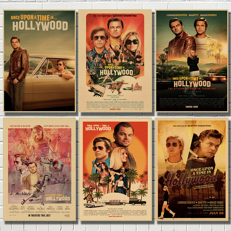 2019-new-movie-poster-once-upon-a-time-in-hollywood-retro-art-prints-vintage-wall-decor-pictures-quentin-font-b-tarantino-b-font-posters