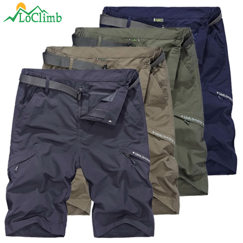 LoClimb Outdoor Hiking Shorts Men Camping/Climbing/Trekking Short Mens Quick Dry Travel Shorts Men's Sports Shorts Fishing AM385