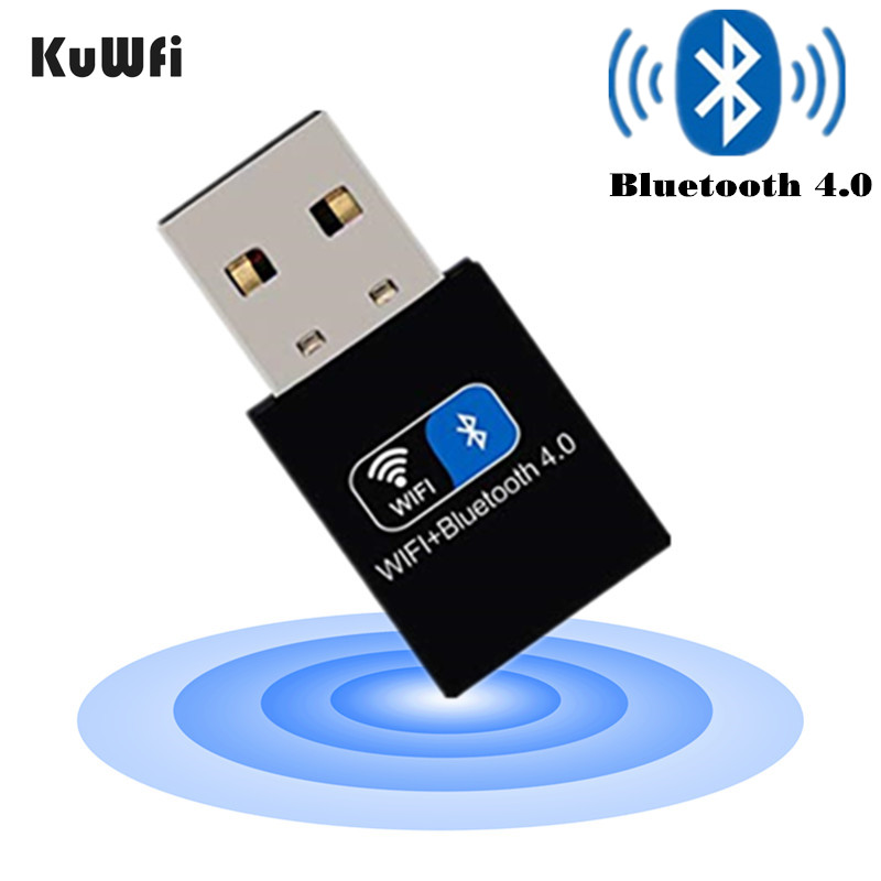 KuWFi Wireless USB Bluetooth Adapter Bluetooth4.0 Dongle USB PC Adapter Bluetooth Receiver Transmitter For Windows 7/8//10/XP