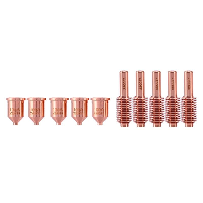 Best 220037 Electrode 20Pcs+220011 Nozzle 20Pcs Per Lot For 100A Plasma Cutting Consumables