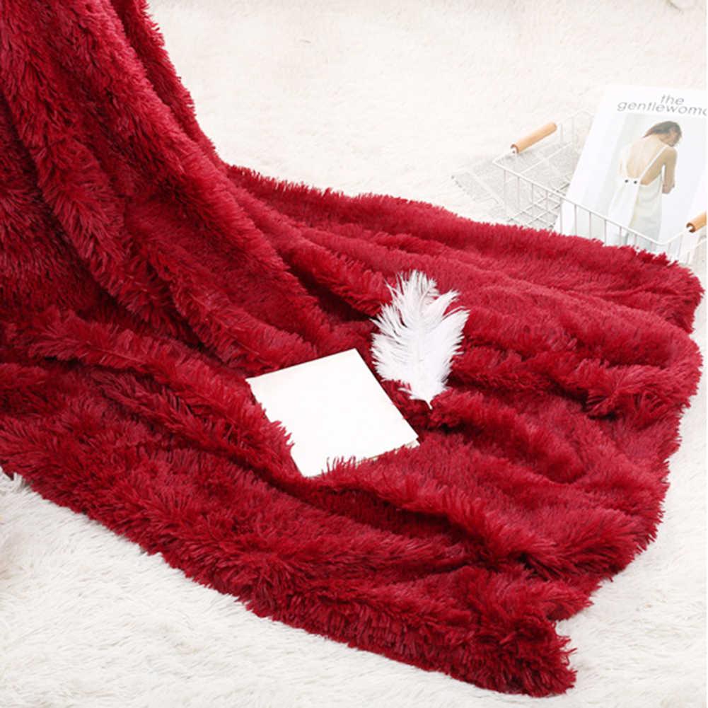 80x120cm 1pc Weiche Warme Fluffy Shaggy Bett Sofa Bettdecke Kinder Sicherheit Bettwäsche Blatt Wurf Haus Dekoration komfortable Decke