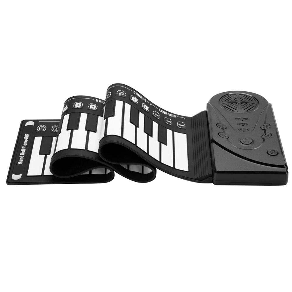 Portable Flexible Digital Keyboard Piano 49 Key Flexible Silicone Roll Up Piano Folding Electronic Keyboard For Children Student