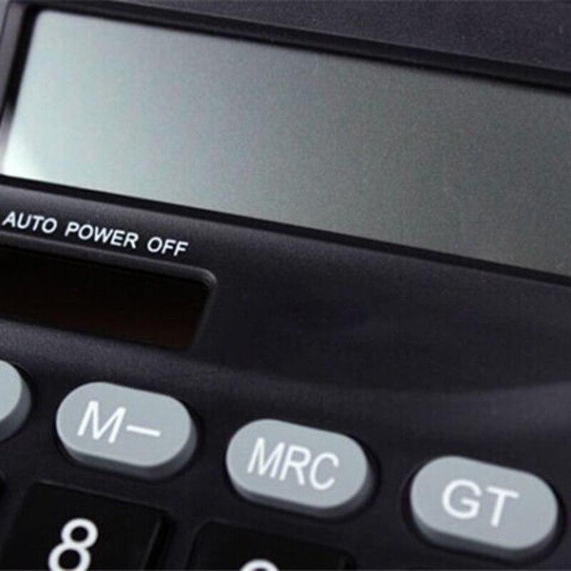 Solar Power Powered Battery Digit Calculator Desktop Large Dual Power Supply