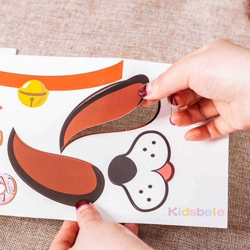 5 قطعة الاطفال DIY الحيوان ورقة حقيبة دمية يد الطفل ألعاب إبداعية الوالدين والطفل تروي قصة لعبة اليدوية الحرفية لعبة رياض الأطفال لعب