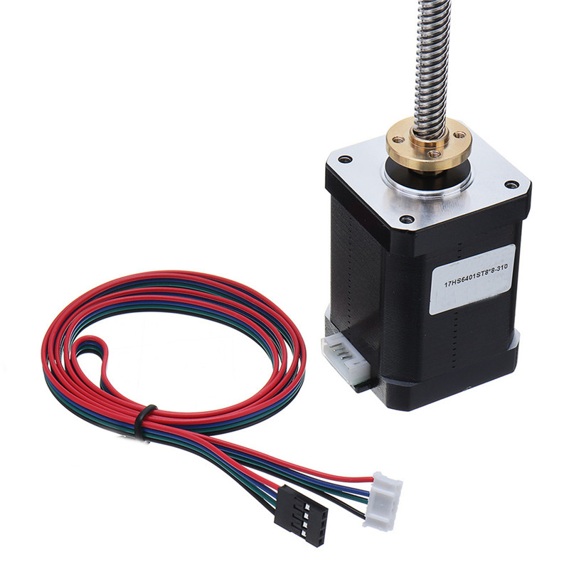17HS6401-S T8x8 Nema 17 Lead Screw Stepper Motor Linear Actuators 60mm 4-lead 42 Motor 100-500mm Trapezoidal Lead Screw