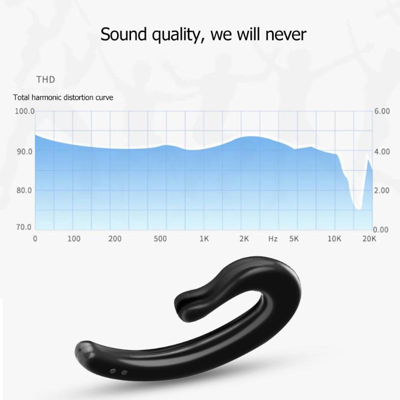Ya09 Bone Conduction Bluetooth Bt V5 0 Edr Headset Wireless Earphone Hands Free With Mic Smartphone Music Headphone in Bluetooth Earphones Headphones from Consumer Electronics