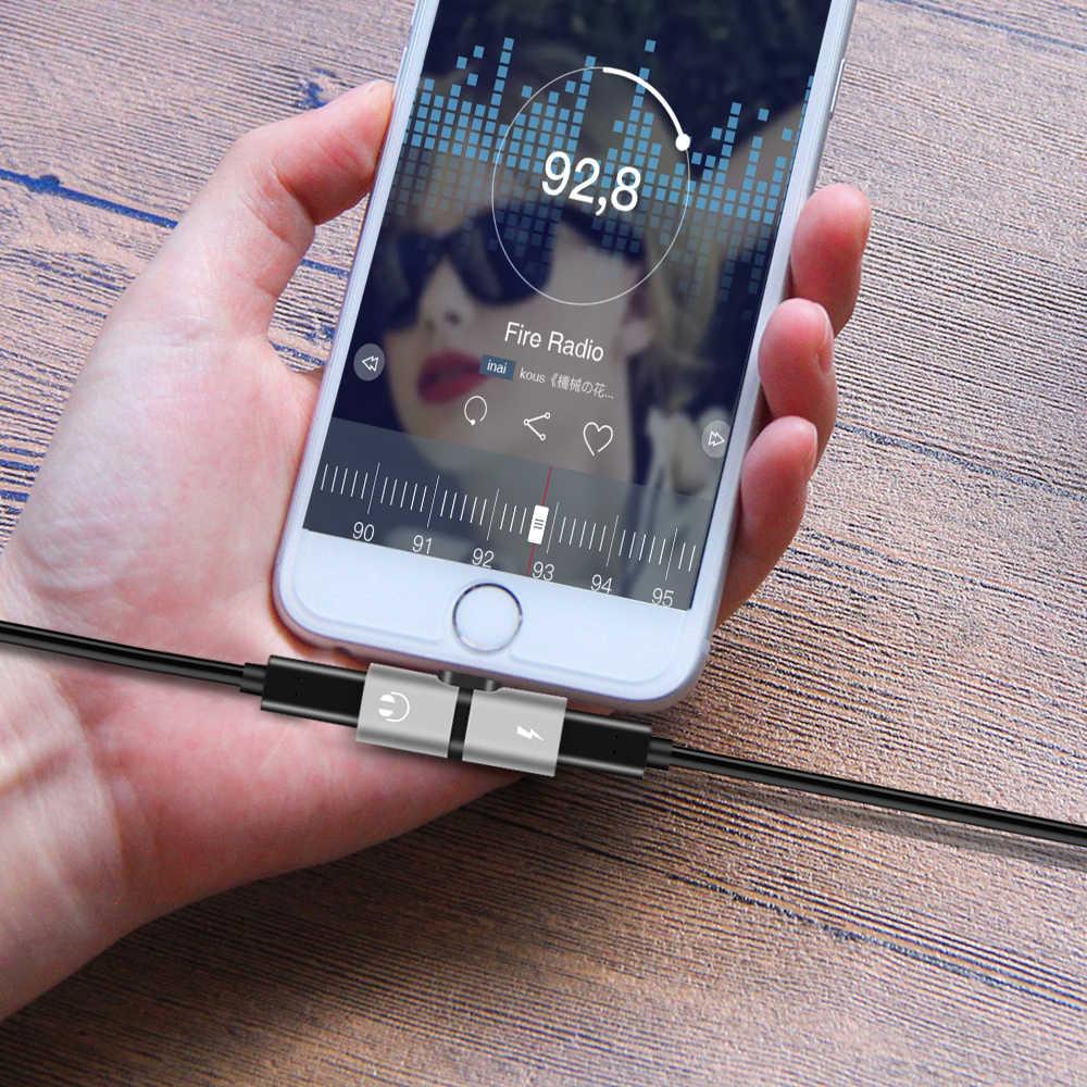 8 Pin Naar Oortelefoon Aux Kabel Audio Opladen Dual Adapter Splitter Kabel Voor Iphone 7 8 Plus Xr 11 Connector converter