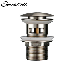 Matt Stainless Steel Bathroom Accessories Lavatory Sink Strainer Basin Push Down Pop Up Stopper Waste With Overflow Hole
