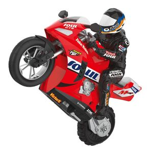 HC 802 2.4G 1/6 di Auto Bilanciamento RC Moto 6 assi di giroscopio 360 rotazione Prodezza Moto Da Corsa Giocattolo per regalo dei bambini|Motociclette radiocomandate|   -
