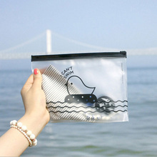 Cute Chicken Pattern Clear Pen Holder Cosmetic Storage Pencil Case Makeup Bags FKU66 iridescence clear pencil case