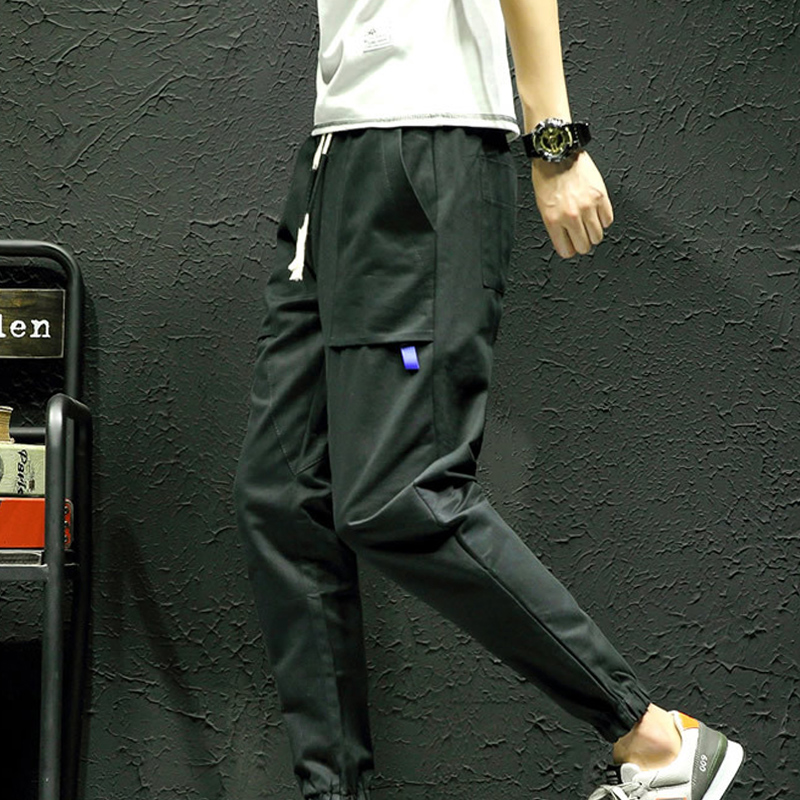 New Casual Cool Men Pants Cotton Slim Pant Fashion Business Solid Mens Sweat Pants