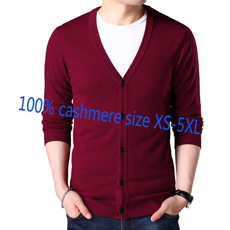 Sweater Male Cardigan Coat V-Neck Knitted Thin Autumn Single-Breasted Plus-Size Casual