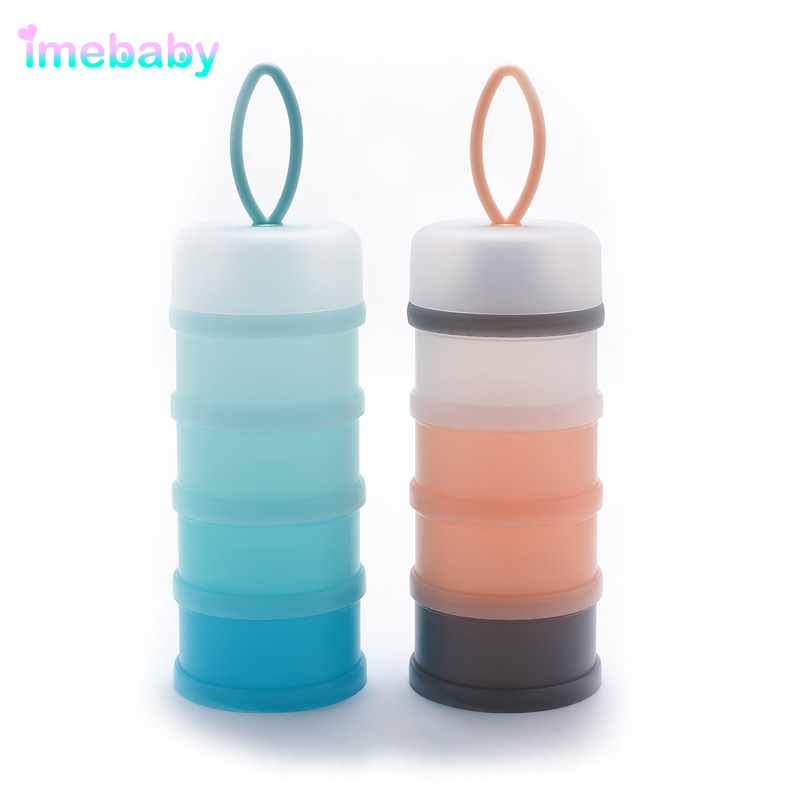 Imebaby Four-layer Baby Milk Powder Food Mixing Container Portable Large-capacity Milk Powder Child Container