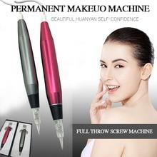 Профессиональная ручка для тату для перманентного макияжа бровей контур губ ручка красота Искусство татуировки пистолет с картриджем иглы