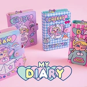 Image 2 - Kawaii DIY Agenda Binder Notebook A6 Korean Spiral Diary Planner Organizer Note Book Girls Fichario Travellers Journal Sketcbook