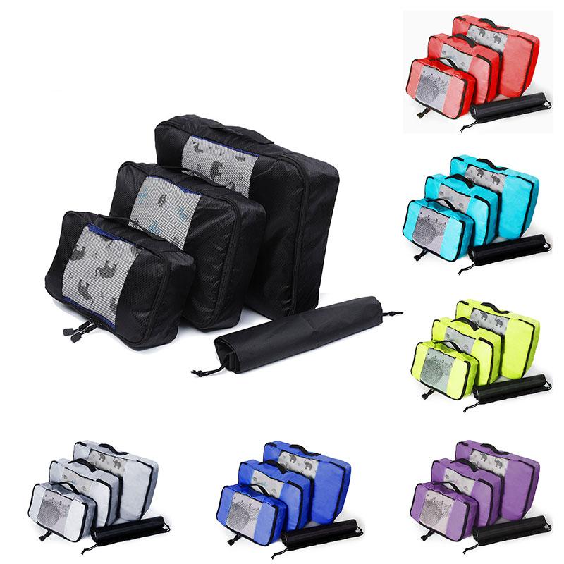 Packing Cubes Travel Luggage Organizer Waterproof Double Zip Men Women Nylon Foldable Large Capacity Travel Bag Hand Luggage