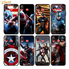 Captain America Marvel for Samsung Galaxy A9 A8 Star A750 A7 A6 A5 A3 Plus 2018 2017 2016 Black Phone Case Soft Cover