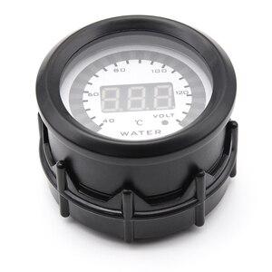 Image 3 - 40 140 52 52mm medidor de temperatura da água com sensor 2 em 1 voltímetro medidor de temperatura de água sensor comum adaptador de mangueira de sensor de tubulação