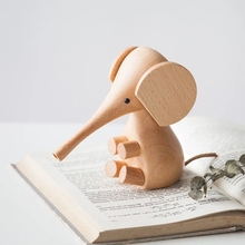 Nordic Wood Crafts Design Decoration Export Proboscis Elephant Puppet Small Wooden Toy Gift
