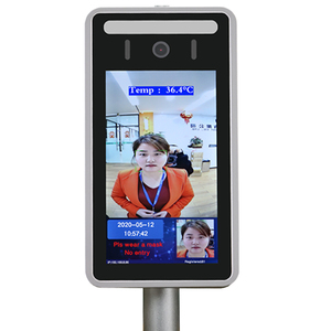 Image 3 - Face Recognition Thermo Camera Body Temperature Detector Access Control Non contact Fever Imager Thermal Camera with Voice Alarm