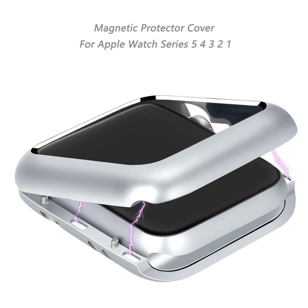 New Magnetic Protector Cover For <font><b>Apple</b></font> <font><b>Watch</b></font> 4 5 Case 40MM 44MM Full Bumper Aluminum Case For Iwatch Series <font><b>3</b></font> 2 1 38MM <font><b>42MM</b></font> image