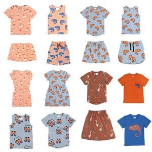 Kids Clothing Set Brand 2020 Boys T Shirt Shorts Matching Baby Girls Fashion Dresses Cartoon Tops Short Sleeve T-shirts Tees(China)