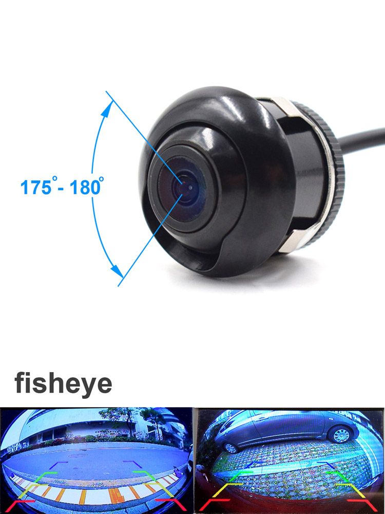 Xcgaoon Camera Fisheye-Lens Reversing-Backup Night-Vision Front-View Wide-Angle CCD Rear-Side