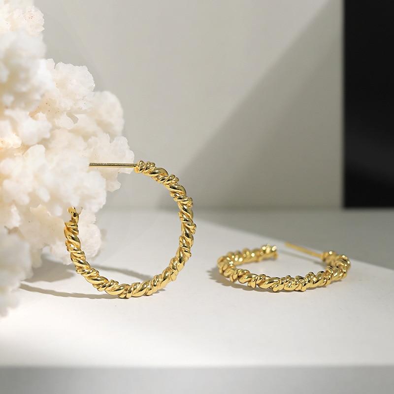 Silvology 925 Sterling Silver Twist Knot Stud Earrings 2020 New Minimalist Temperament Earrings for Women Office Jewelry Charm