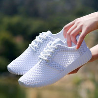 High Quality Women Shoes Breathable Mesh Hollow Network Soft Lightweight Casual Shoes Sport Fashion Shoe