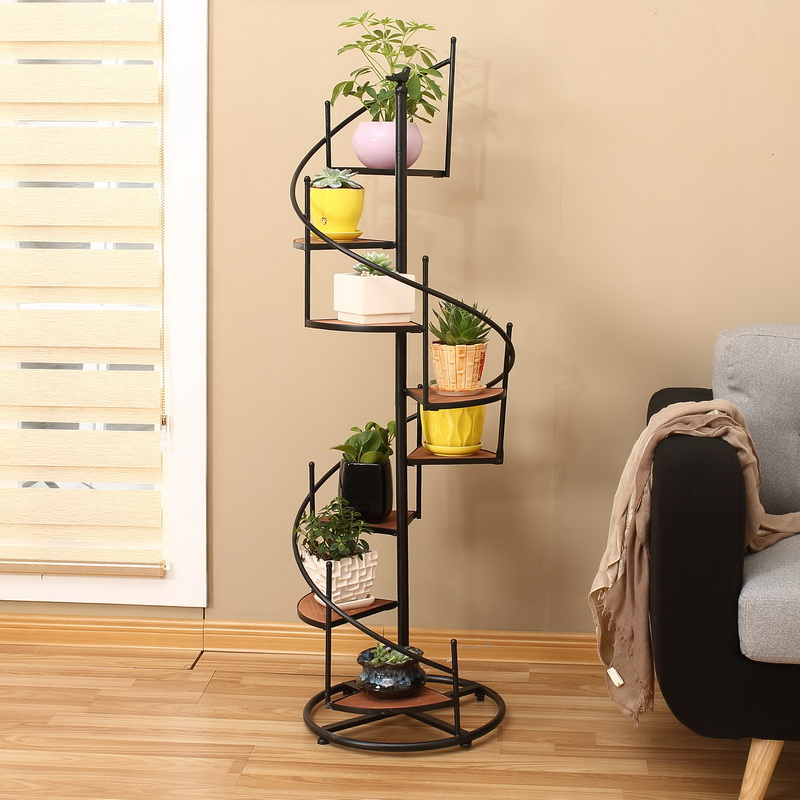 Iron Flower Shelf Multi-storey Indoor Special Living Room Fleshy Flower Rack Home Balcony Rack Flower Pot Rack Floor Type