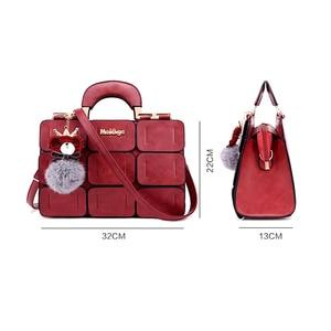 Image 5 - Moda ünlü marka kadın çanta deri postacı çantası lüks üst saplı çanta kadın Tote Crossbody çanta Bolsas Feminina