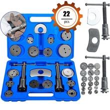 цена на 12/18/22 Pcs Universal Auto Precision Car Brake Disc Tool Set Reverse Wind Brake Pads Brake Pump Car Piston Repair Tools Kit