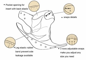 Image 4 - Pannolini riutilizzabili per pannolini di stoffa per bambini LilBit confezione da 6 pezzi