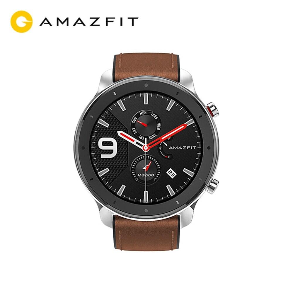Умные часы AMAZFIT GTR, глобальная версия, 47 мм, 24 дня в режиме ожидания, 5 АТМ, водонепроницаемые, умные часы, Bluetooth 5,0, gps, пульсометр