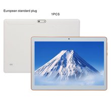 KT107 plastique tablette 10.1 pouces HD grand écran Android 8.10 Version mode Portable tablette 8G + 64G blanc tablette blanc ue Plug