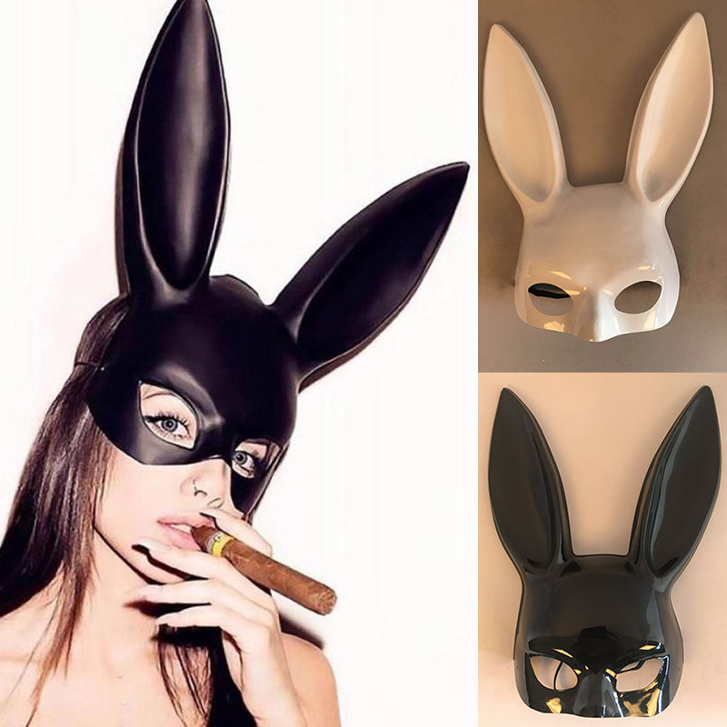 1Pc Halloween Laides Bunny Mask Party Bar Nightclub Costume Rabbit Ears Mask Festival Party Hairband Costume