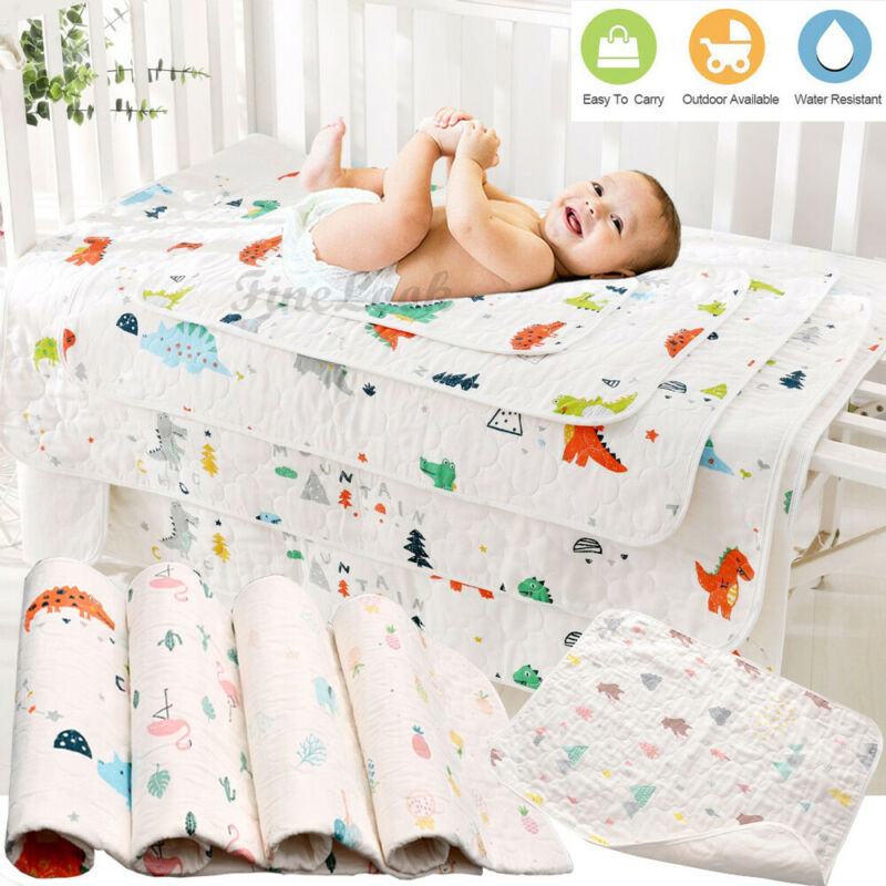 1pcs Cotton Changing Covers Nappy Pads Breathable Baby Soft Diaper Pad Absorb Fast Baby Urine Leak Protection Pad