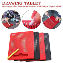 Magnet Pad Drawing Board Pen Toys For Children Paint Ball Magnetic Tablet Beads Learning Notebook