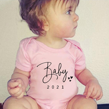 Baby Coming Soon 2021 Onesies Rompers Pregnancy Announcement Baby Bodysuit Cotton Pregnancy Reveal Body Baby Boys Girls Clothes