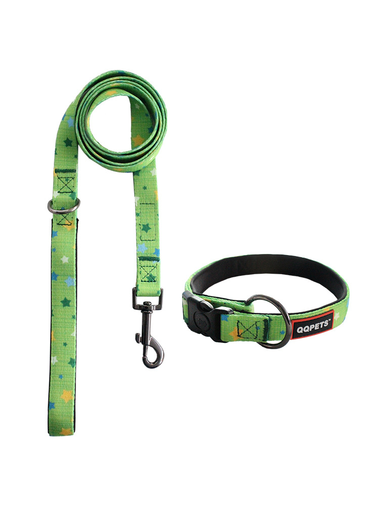 2019-Hot Sales Dog Hand Holding Rope Dog Collar Dog Traction Rope Dog Breast Collar Shiny Dog Collar Large Amount Favorably