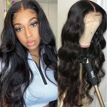 4x4 объемная волна Синтетические волосы на кружеве парик человеческих