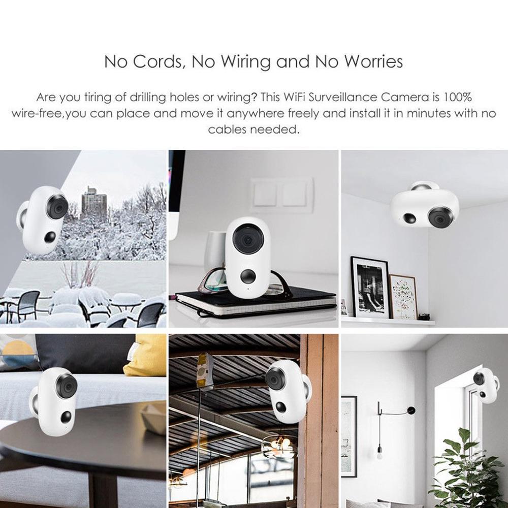 Casa inteligente À Prova D' Água Câmera de Vigilância Câmera Móvel Sem Fio de Baixa Potência Wifi Monitoramento Remoto Intercom - 6