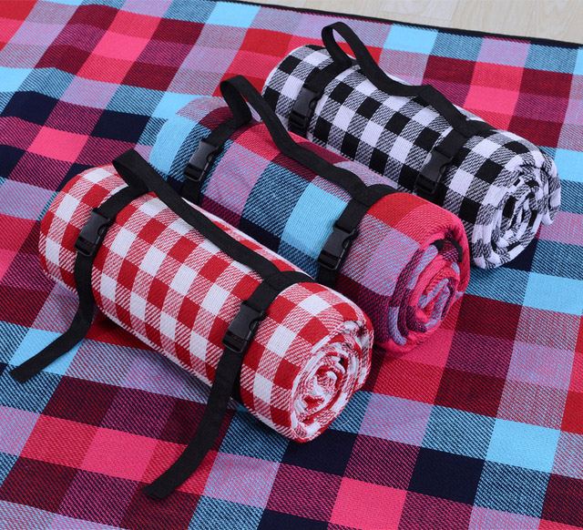 200*300cm Picnic Mat Camp Carpet Machine Washable Moisture Proof Waterproof Durable Portable Lattice Patter Outdoor Tent Acces