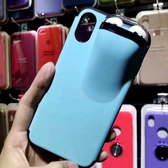 Mode 2in1 coque de t l phone avec tui pour couteurs pour airpods Silicone t l