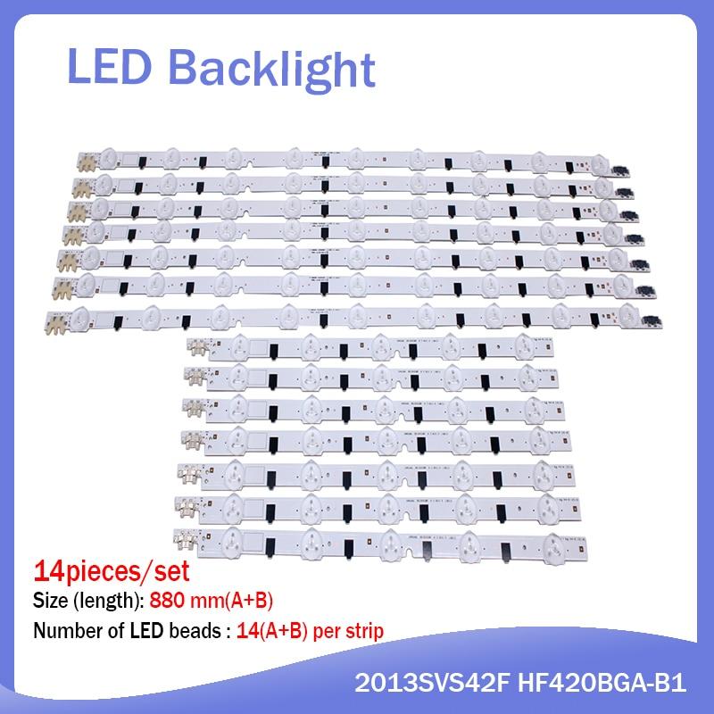 14pcs/set LED Backlight Strip For Samsung UE42F5300 D2GE-420SCB-R3 D2GE-420SCA-R3 2013SVS42F CY-HF420BGAV1H BN96-25306A 25307A
