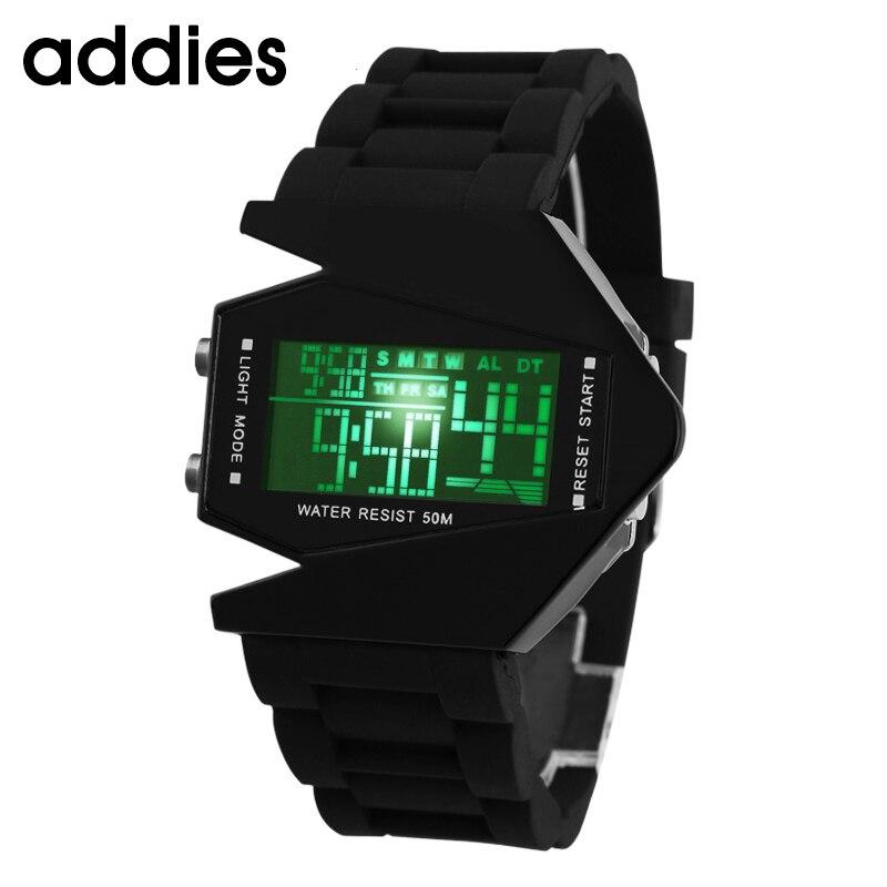 ADDIES Top Brand Fashion Creative Children Watches Futuristic Stylish Multicolor Silicone LED Airplane Electronic Wrist Watch