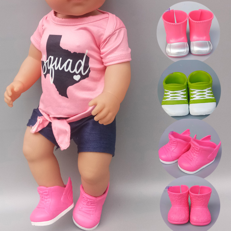 43cm Baby Bona Doll Shoes Boots Green Blue Pink Doll Sneaker Accessories