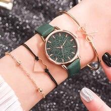 Moda küçük popüler marka gül altın deri saatler kadınlar bayanlar elbise Rhinestone kuvars kol saati Relojes Mujer